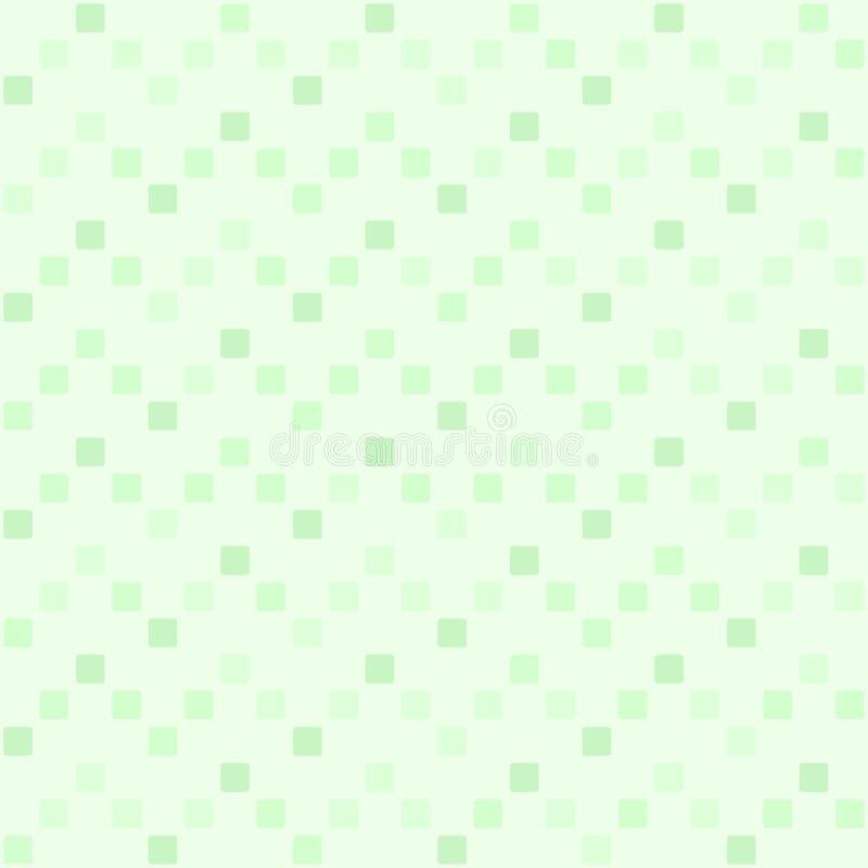 Zielony kwadratowy zygzakowaty wzór tło bezszwowy wektora ilustracja wektor