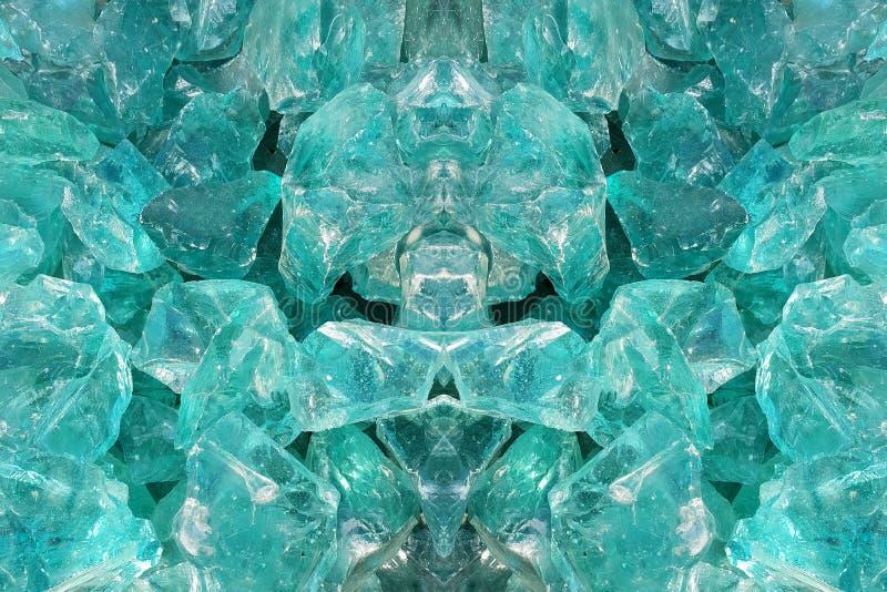 Zielony kwarc kamień, szklani bloki ilustracji