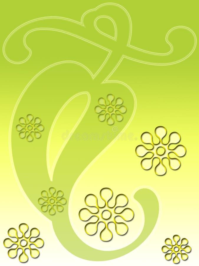 zielony kwiecisty liścia royalty ilustracja
