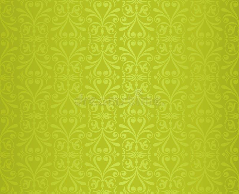 Zielony Kwiecisty Wielkanocny Dekoracyjny ozdobny deseniowy tapetowy wektorowy powtarzalny projekta backround zdjęcia stock
