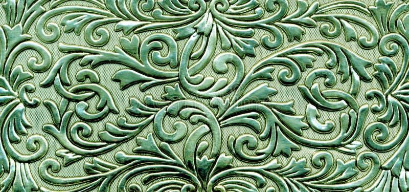 zielony kwiecisty wzór metaliczny ilustracja wektor