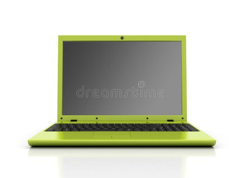 zielony laptop ilustracja wektor