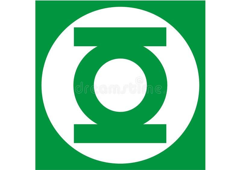 Zielony Latarniowy logo, bohater royalty ilustracja