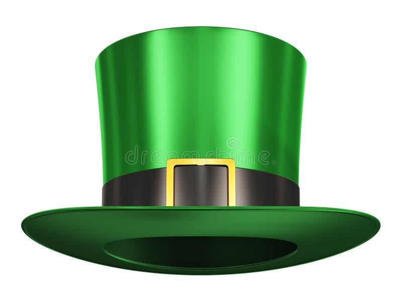 Zielony Leprechaun kapelusz ilustracja wektor