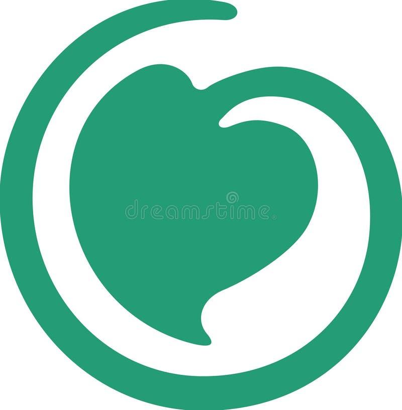zielony liść royalty ilustracja