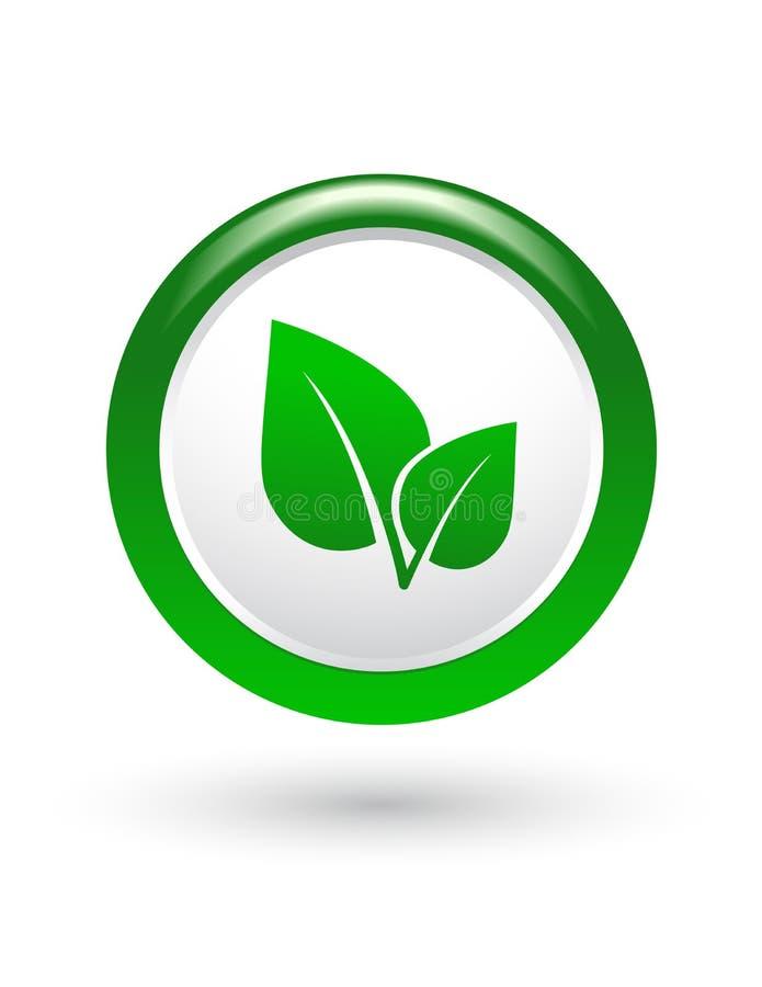 Zielony liścia znak royalty ilustracja