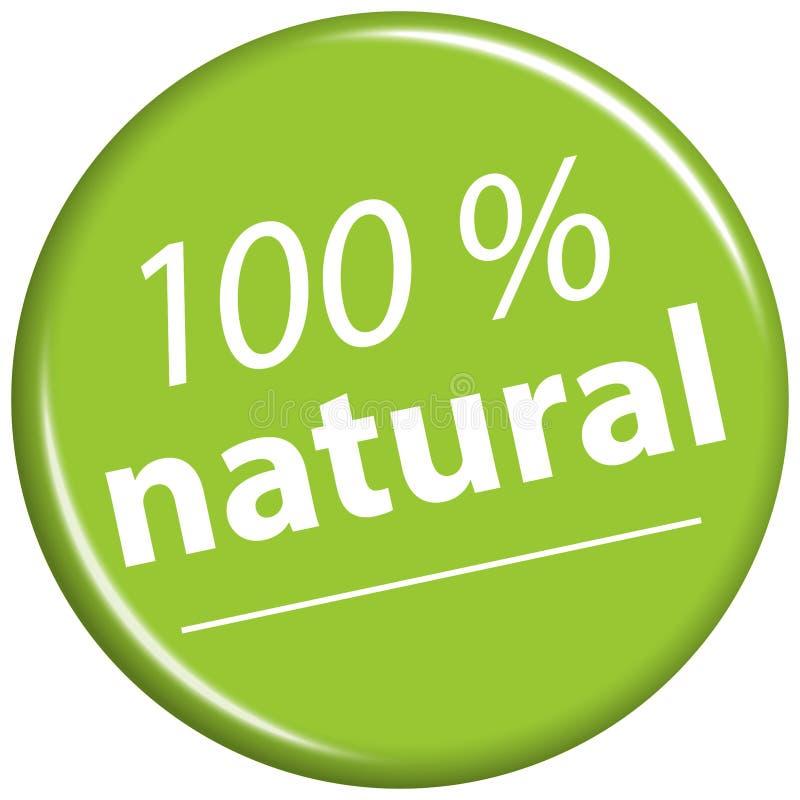zielony magnes z tekstem 100% naturalnym ilustracja wektor