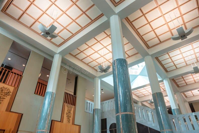 Zielony marmurowy foyer parlamentu dom w Canberra zdjęcie royalty free