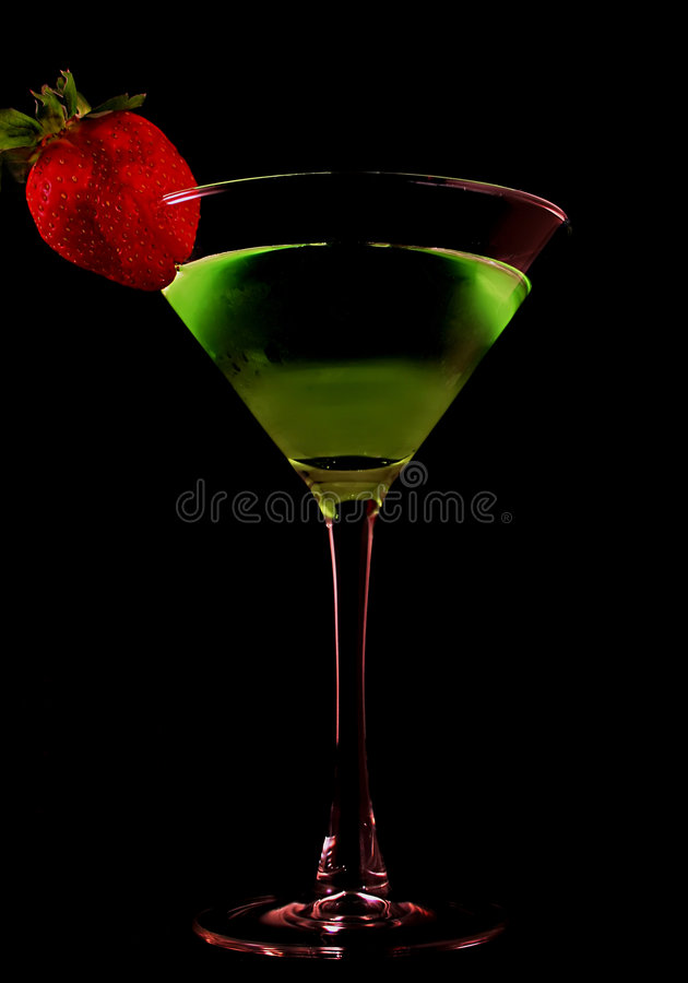 zielony Martini fotografia stock