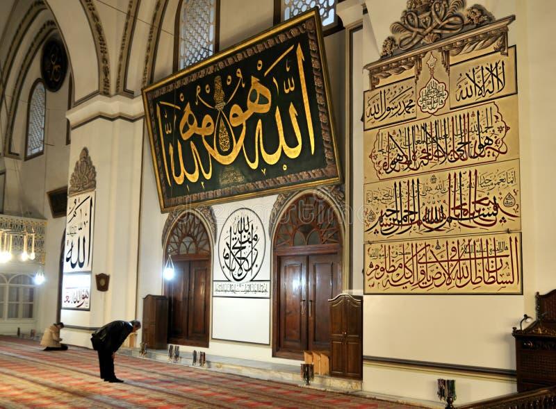 zielony meczetowy muzułmański modlenie zdjęcia royalty free