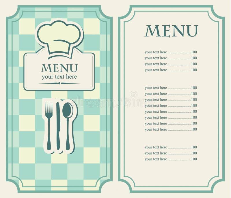 zielony menu ilustracji
