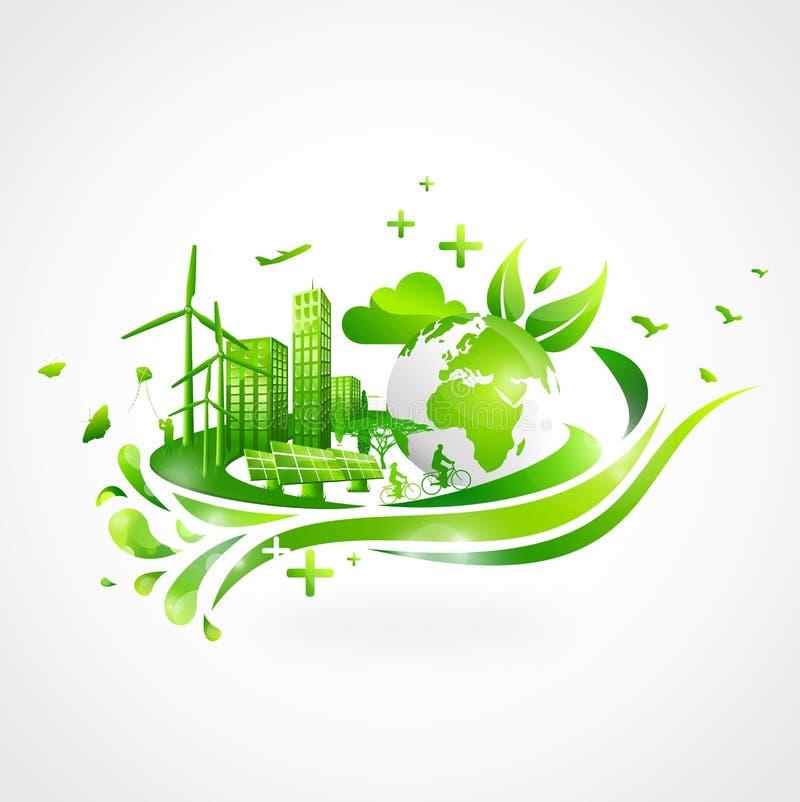 Zielony miasto royalty ilustracja