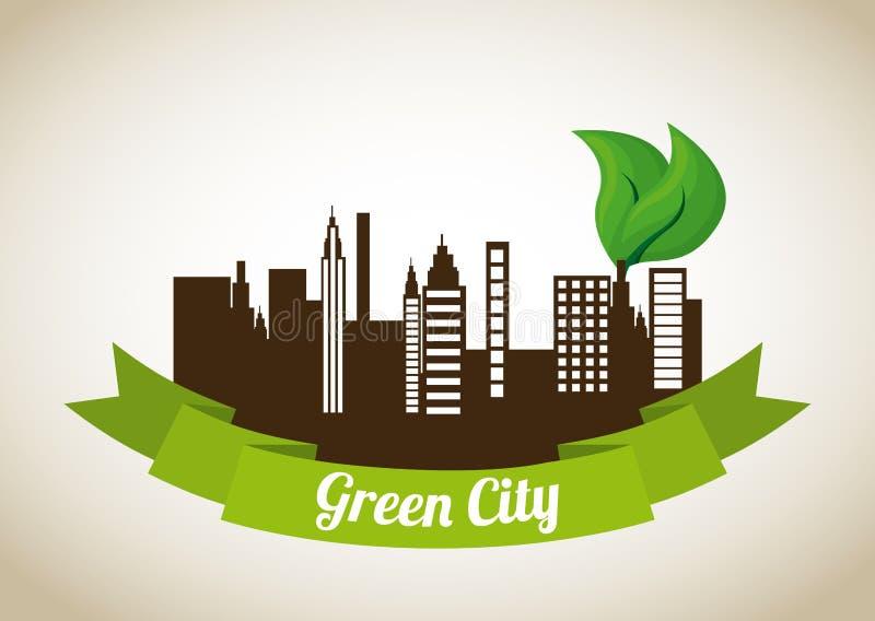 Zielony miasto projekt ilustracja wektor