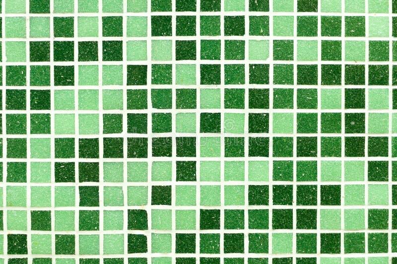 Zielony mozaik płytek tło ilustracja wektor