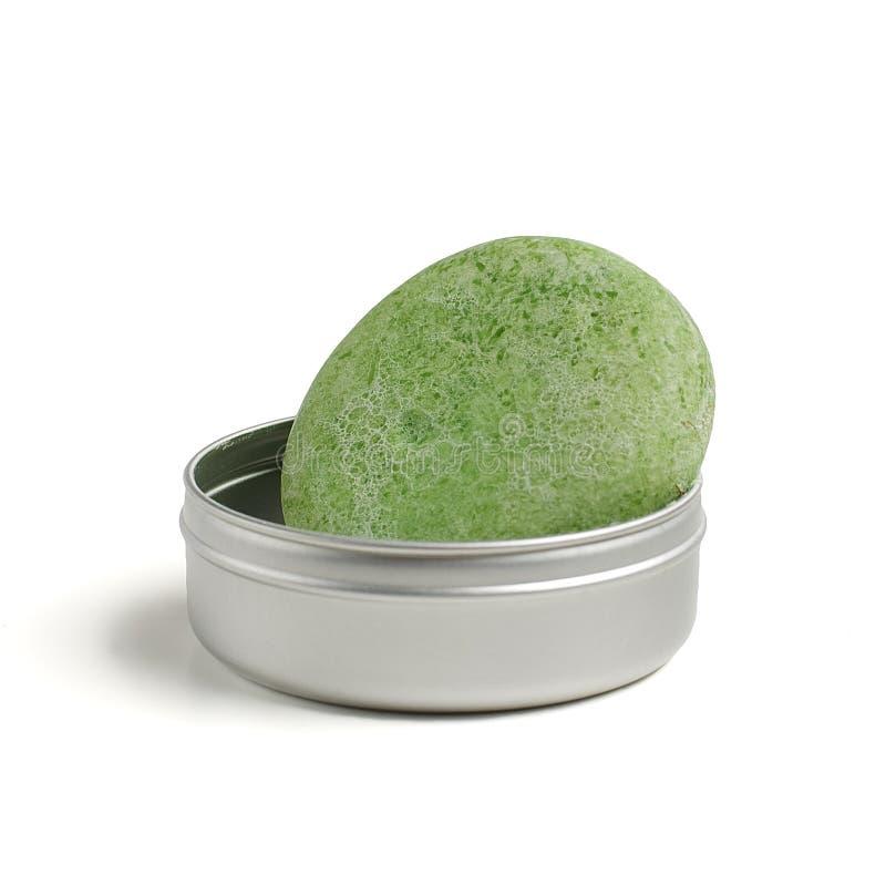 zielony mydło fotografia stock