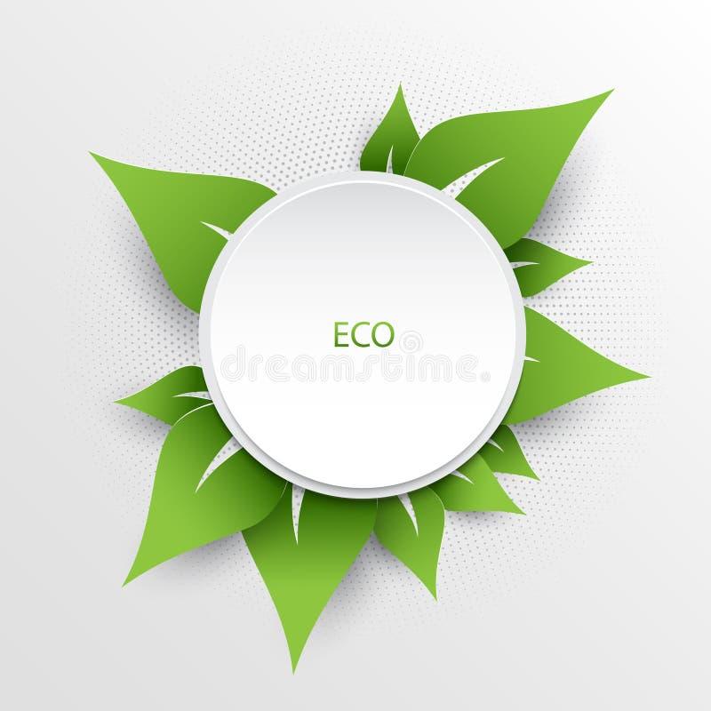 Zielony natury eco tło royalty ilustracja