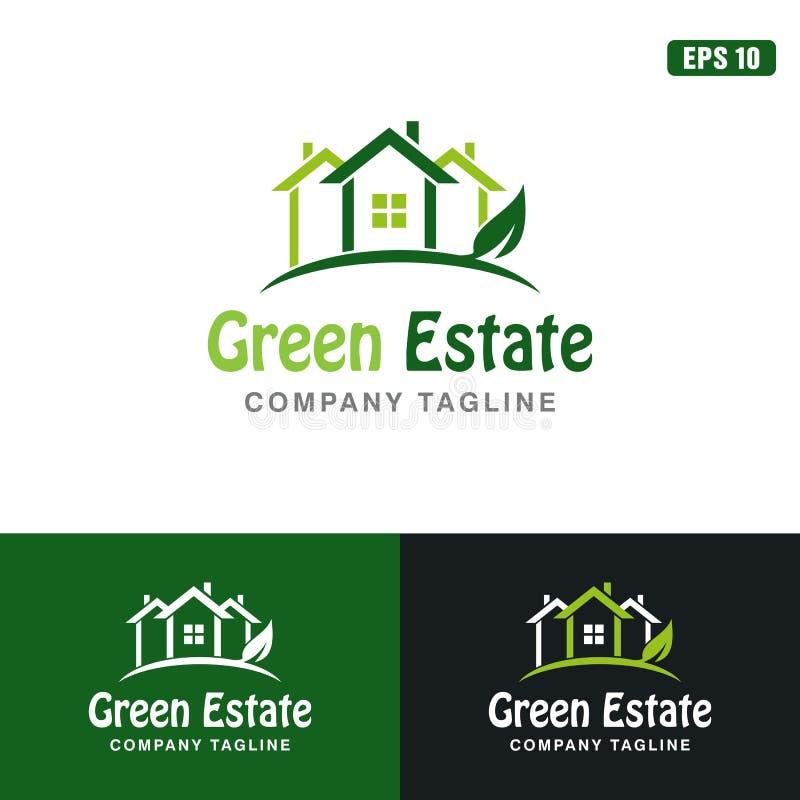 Zielony nieruchomość loga, ikona Wektorowego projekta loga Biznesowy pomysł/ fotografia royalty free