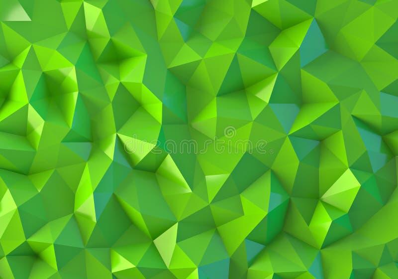 Zielony niski poli- tło obraz stock