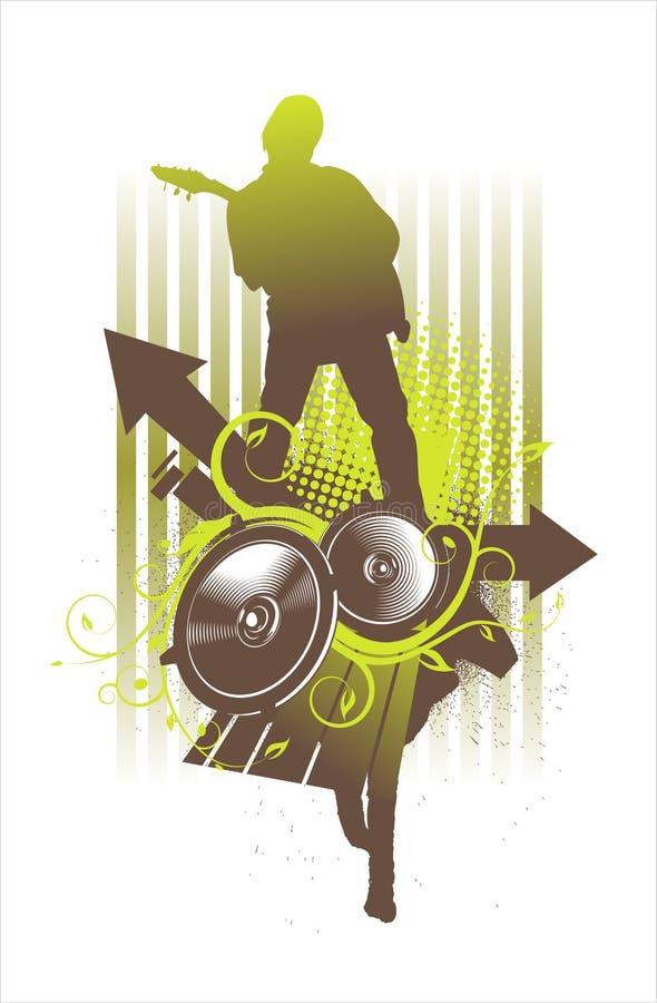 zielony odtwarzacz muzyki royalty ilustracja