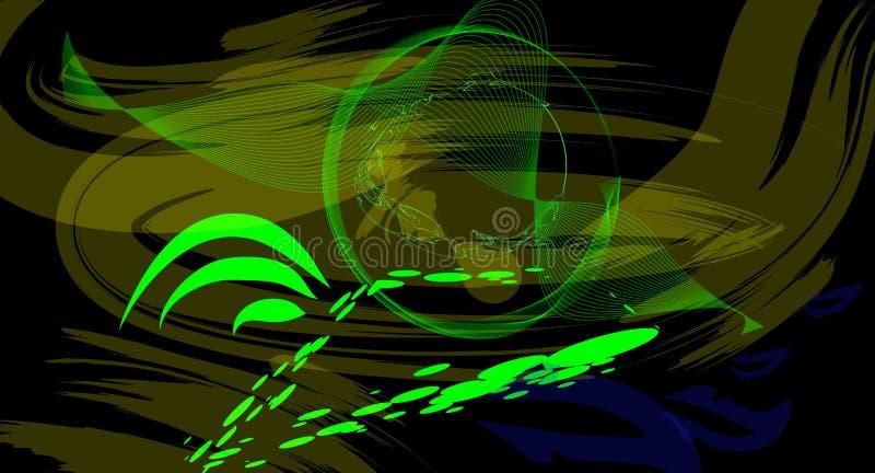 Zielony oko bóg ilustracja wektor