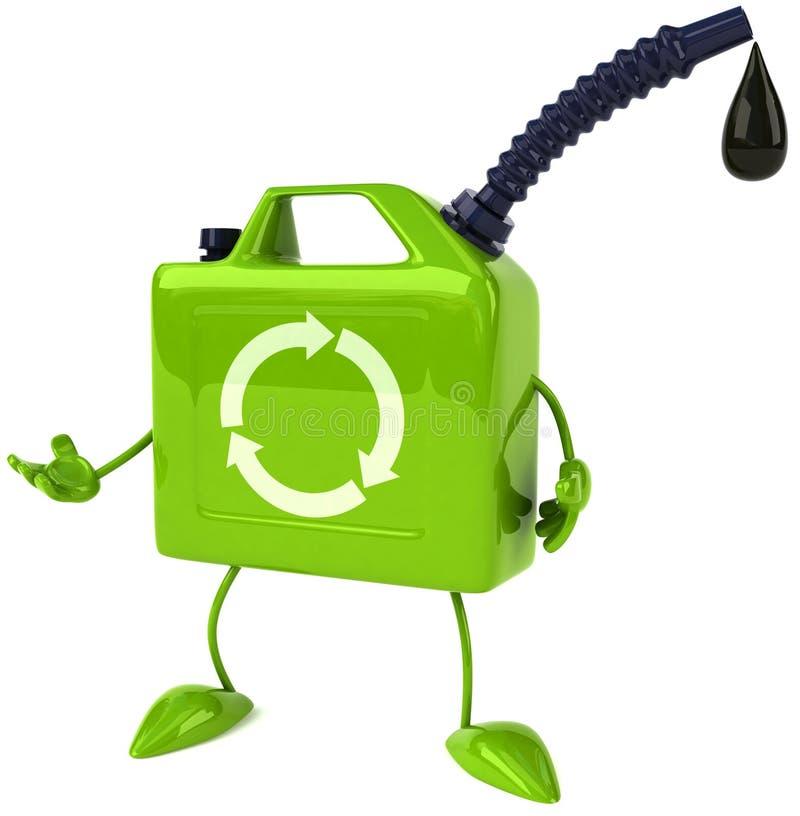zielony olej ilustracji
