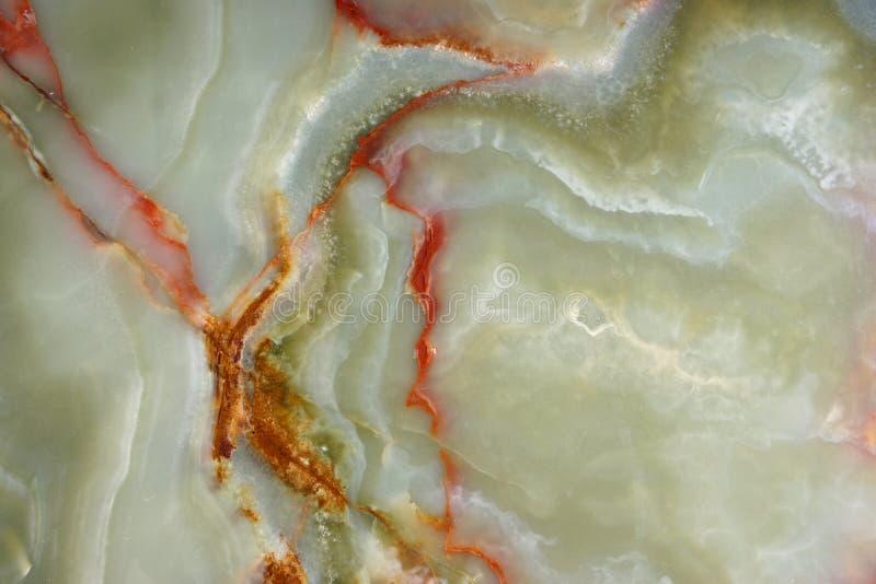 Zielony onyks z pięknymi żyłami powierzchnia naturalny kamień dla wewnętrznej pracy zdjęcia stock
