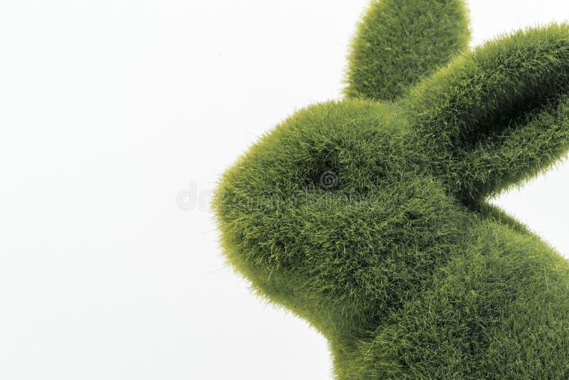 Zielony owłosiony Easter królika zakończenie w górę zdjęcia stock