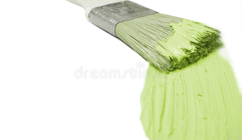 zielony pędzel zdjęcia stock