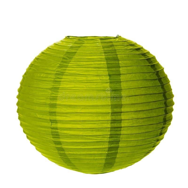 Zielony Papierowy lampion zdjęcie royalty free