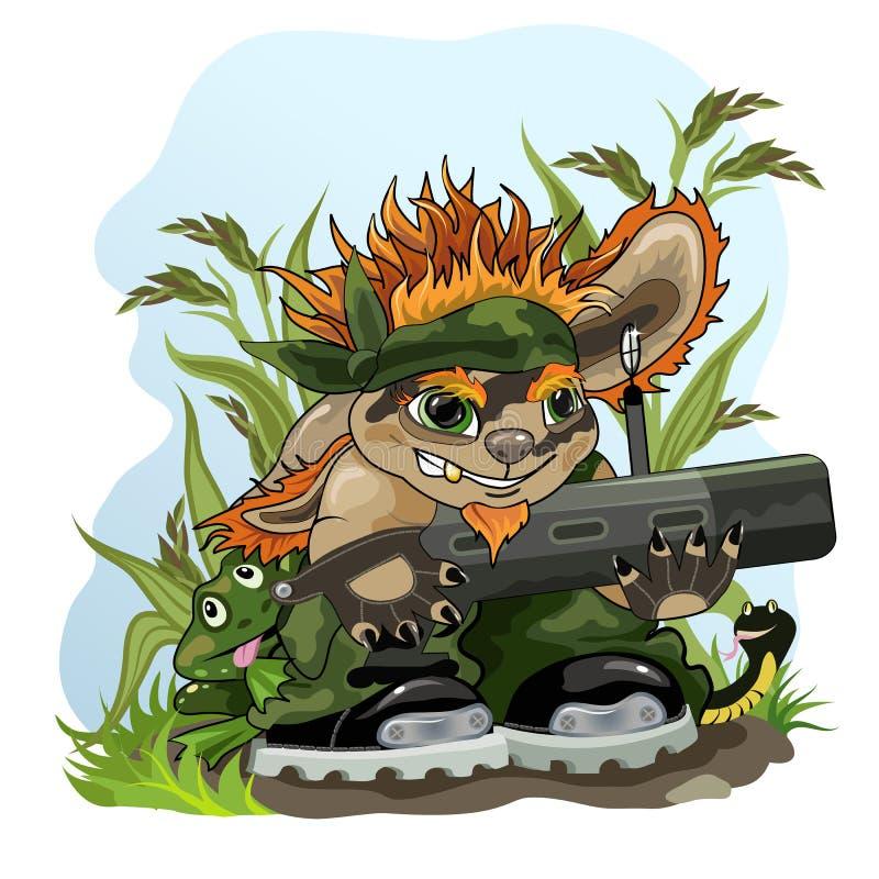 zielony patrol ilustracji