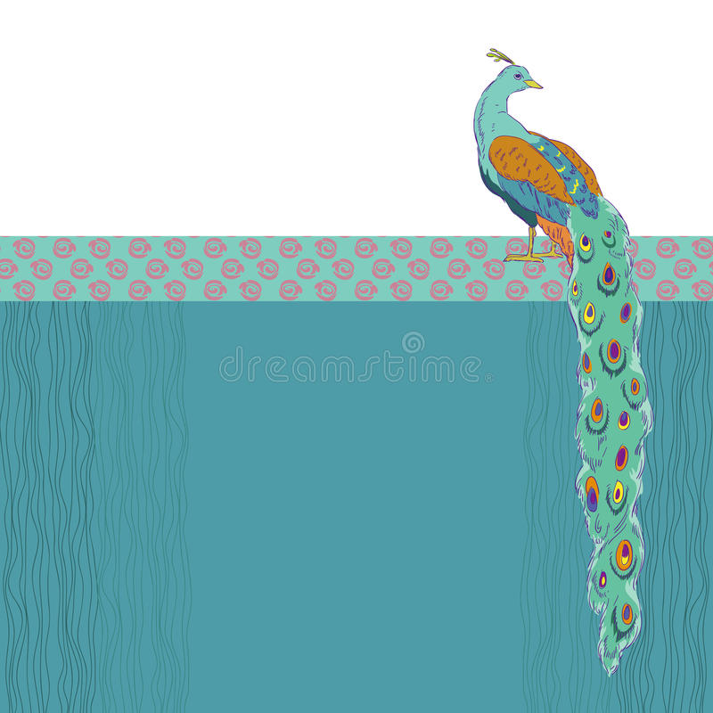 Zielony paw royalty ilustracja