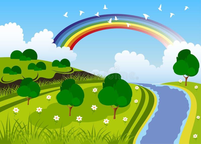 Zielony piękno krajobraz royalty ilustracja