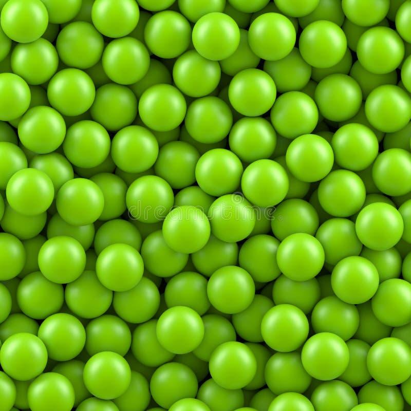 Zielony piłki tło royalty ilustracja