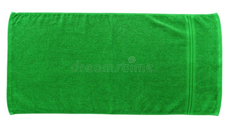 Zielony Plażowy ręcznik obrazy stock