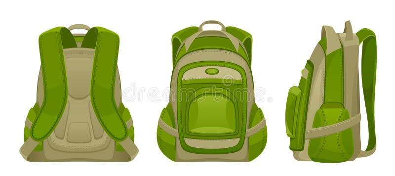 Zielony plecak royalty ilustracja