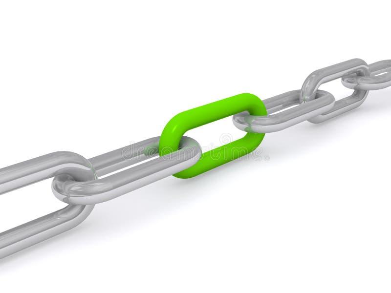 Zielony połączenie w łańcuchu ilustracji
