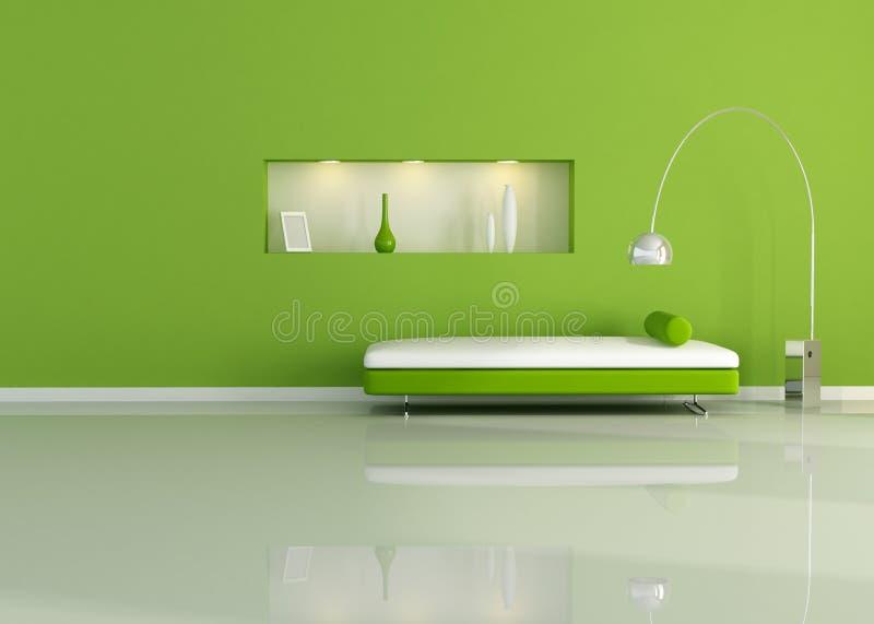 zielony pokój ilustracja wektor