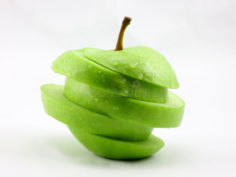 - zielony pokroić jabłka zdjęcie royalty free