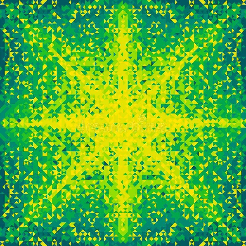 Zielony poligonalny mozaiki tło zdjęcie stock