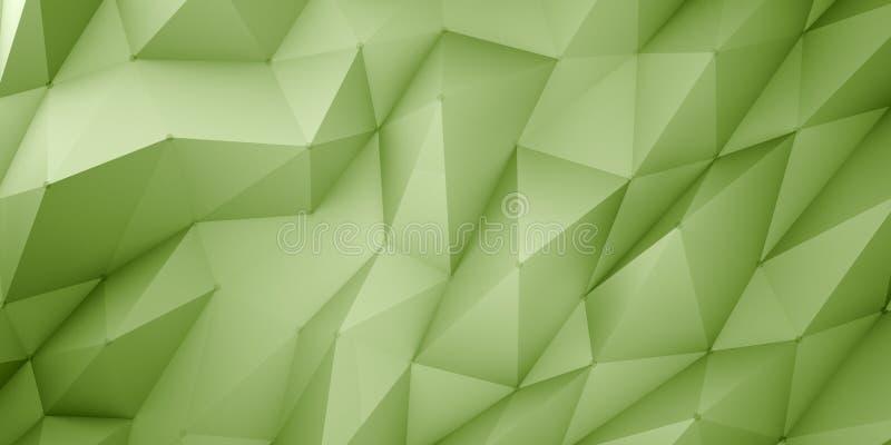 Zielony poligonalny tło obrazy stock