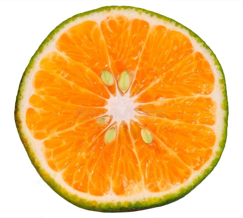 zielony pomarańczowy plasterek fotografia royalty free
