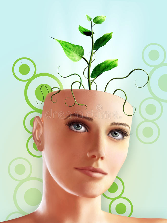 zielony pomysł royalty ilustracja