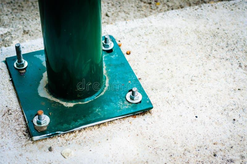 Zielony poręcza szczegół fotografia royalty free