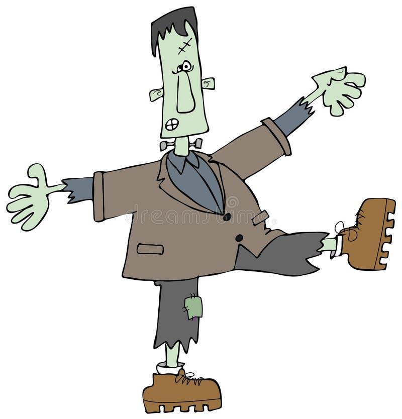 zielony potwór royalty ilustracja