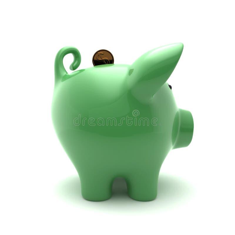 Download Zielony Ppiggy Zdjęcie Stock - Obraz: 33378100