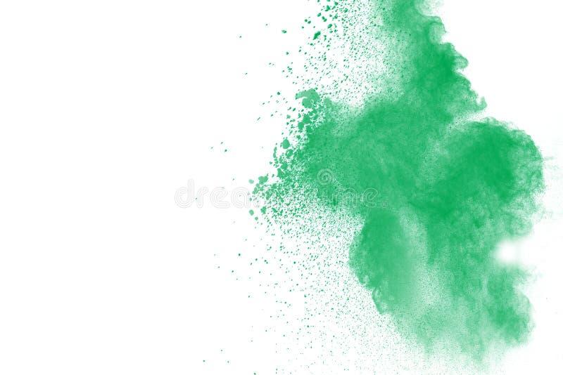 Zielony proszek splatted obrazy royalty free