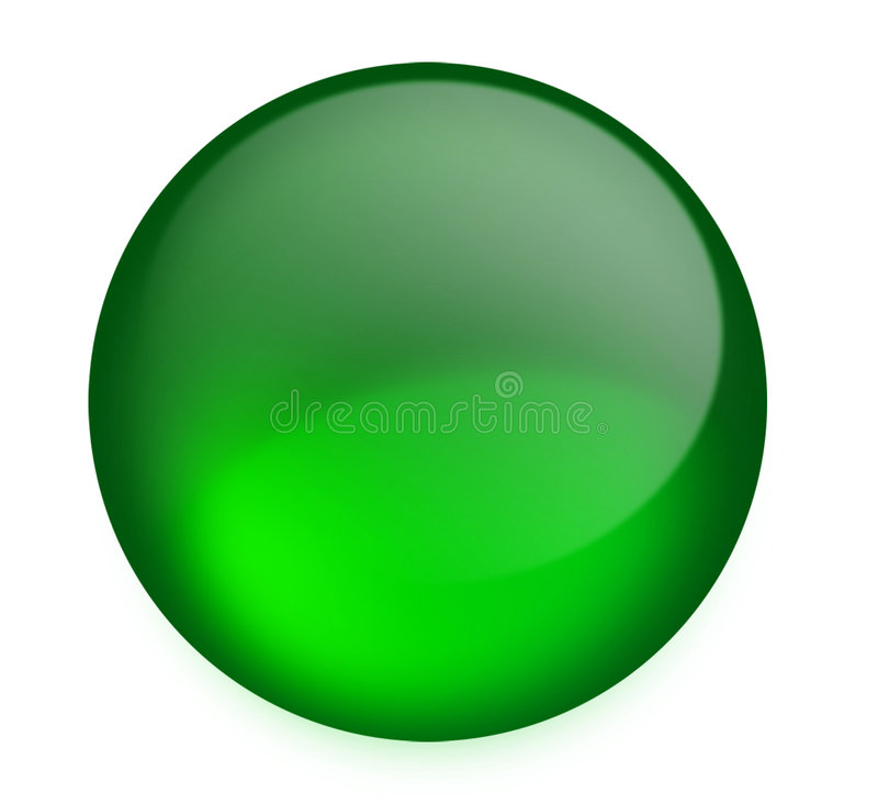 Zielony Przycisk Fotografia Stock