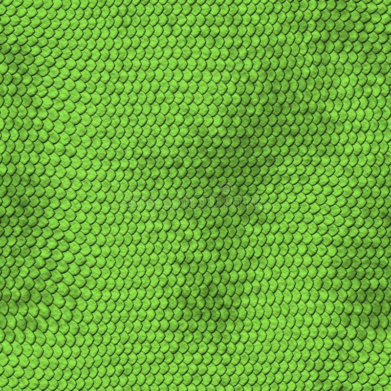 Zielony pytonu węża skóry tekstury tło. royalty ilustracja