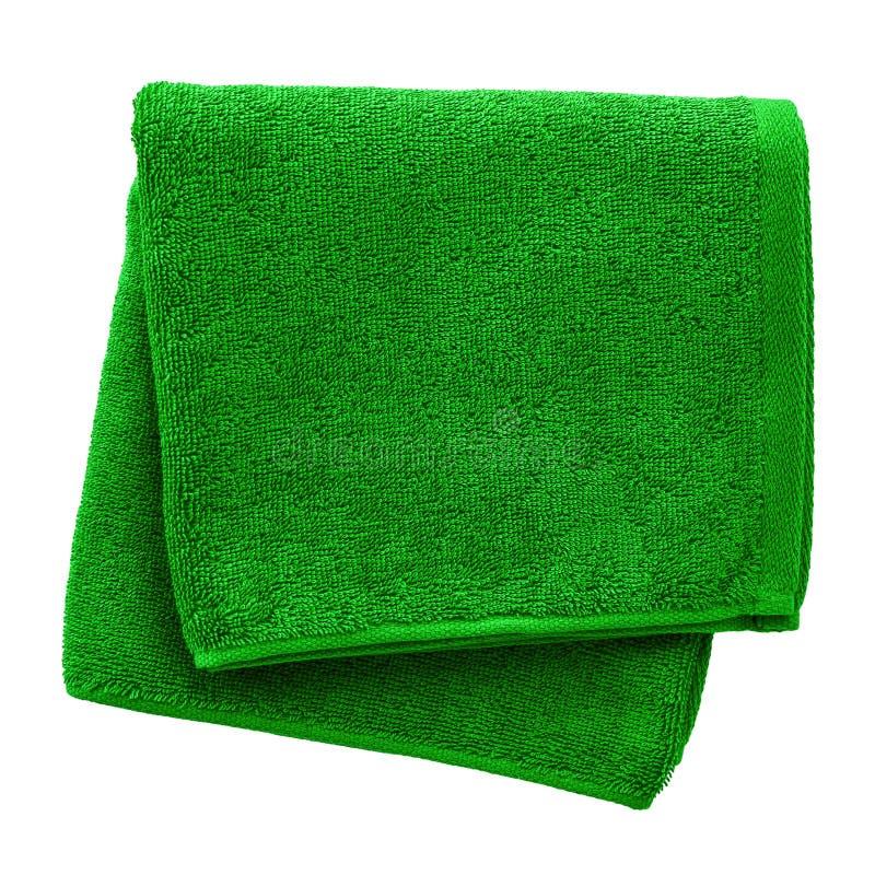 zielony ręcznik zdjęcie stock