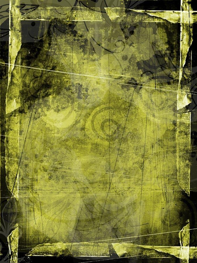 zielony ramowy grunge textured ilustracja wektor